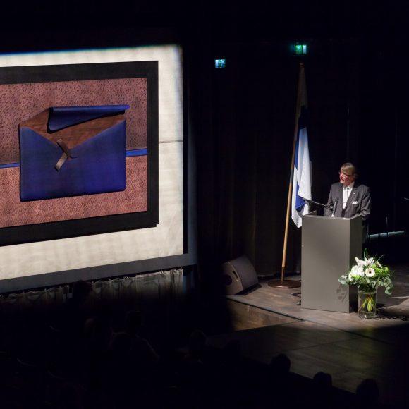 Kangasala-sali, teos Kimmo Pyykkö: Mielen maisema, puhuja Jari Jokilampi.