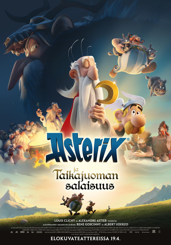Asterix ja taikajuoman salaisuus -elokuva Kangasala-talon K-Kinossa.