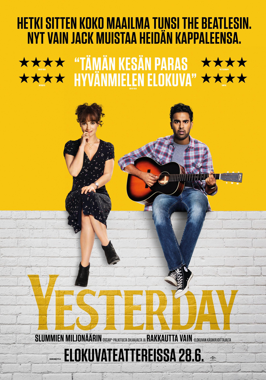 Elokuva Yesterday nähdään Kangasala-talon K-Kinossa kesällä 2019.