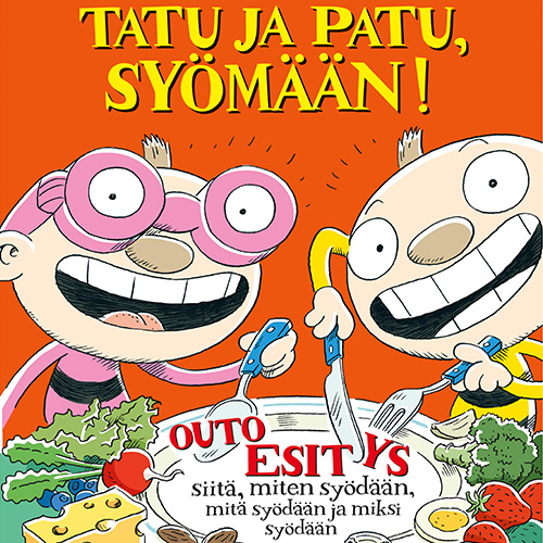 Lastennäytelmä Tatu ja Patu, syömään! Kangasala-talossa syksyllä 2019.