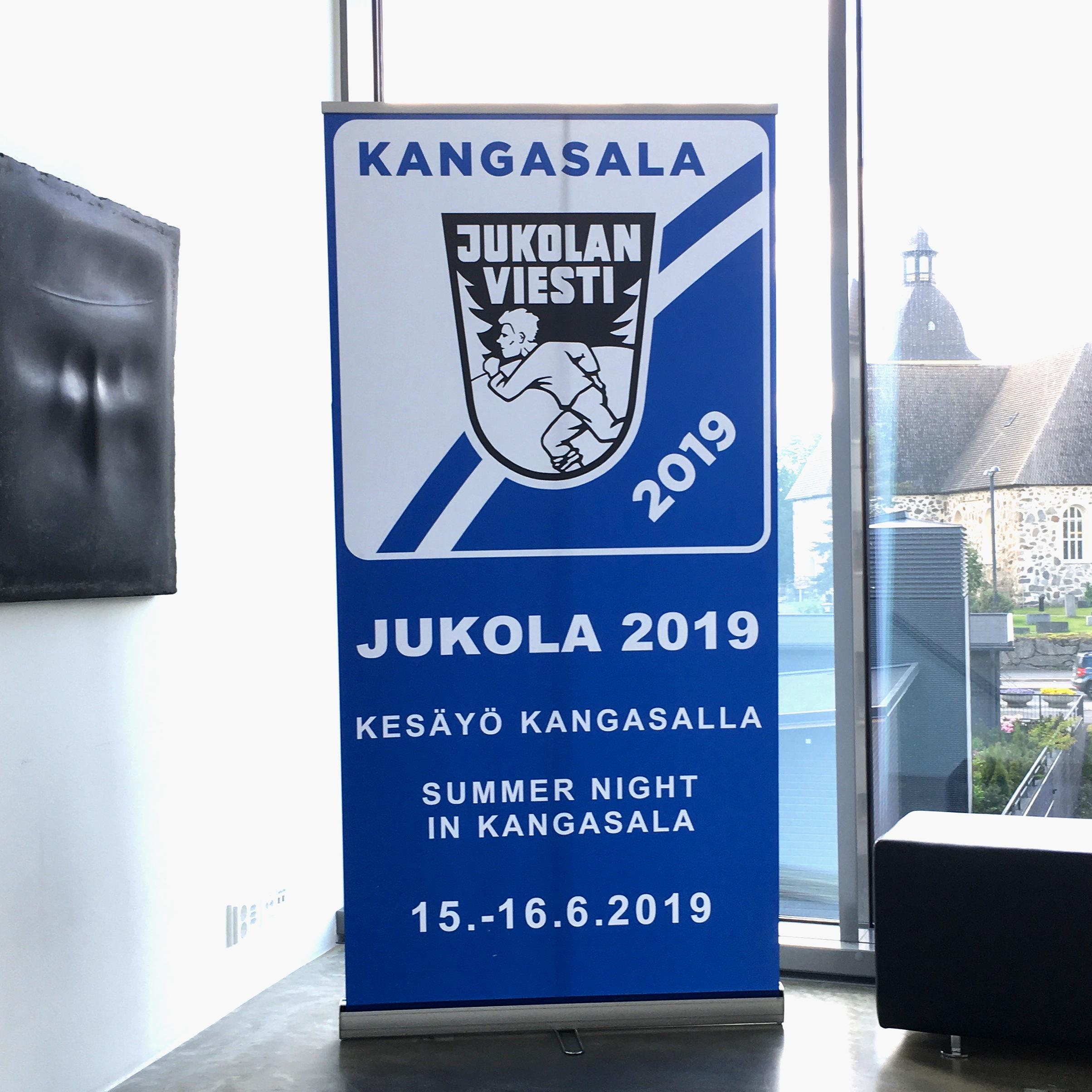 Kangasala Jukola 2019 -näyttely Kangasala-talossa