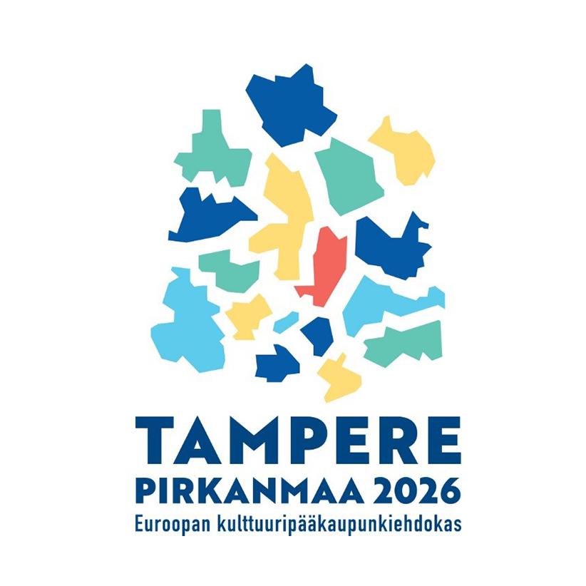 Tampere Pirkanmaa Euroopan kulttuuripääkaupunkiehdokas 2026 -hankkeen logo