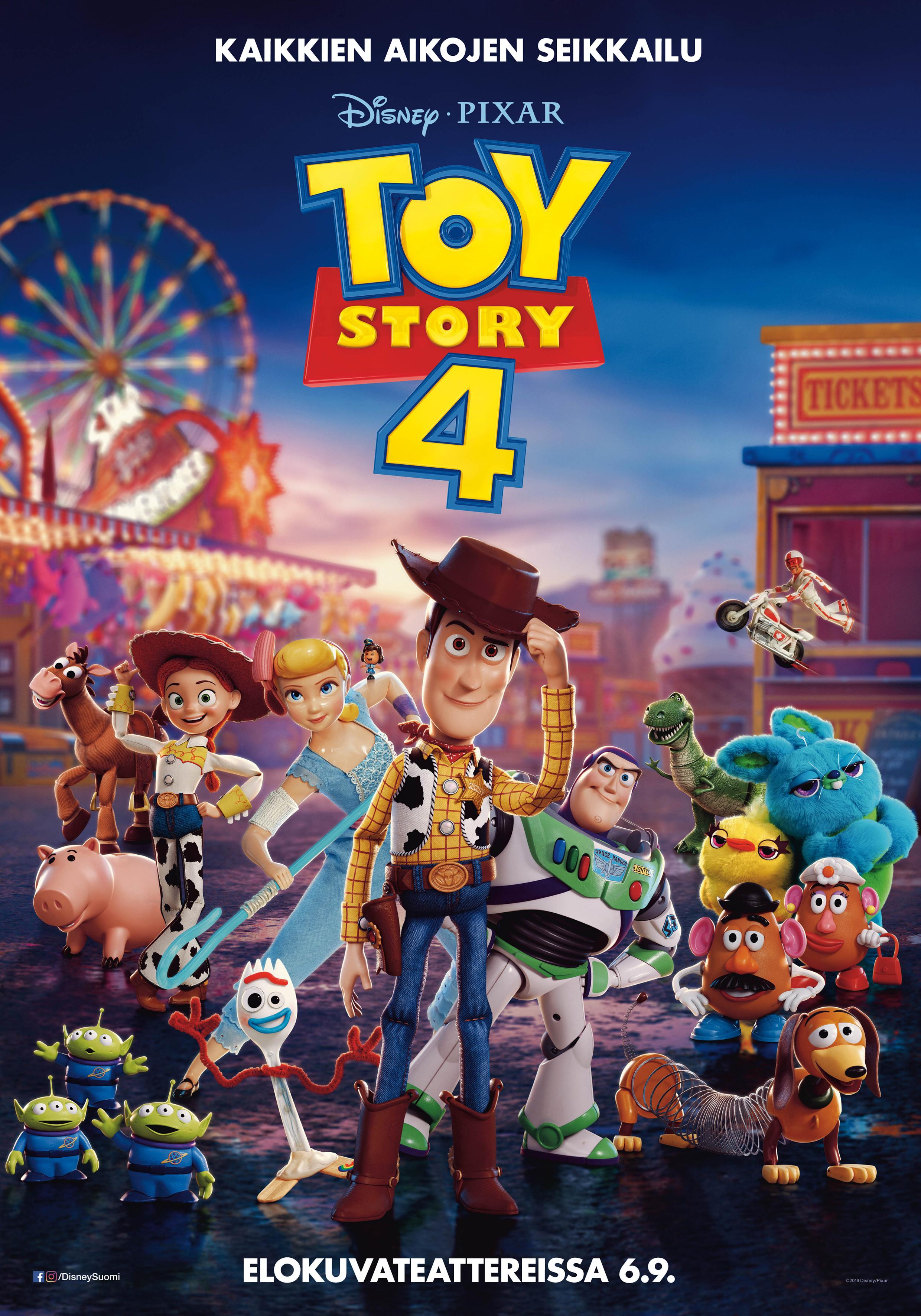 Toy Story 4 -elokuva Kangasala-talon K-Kinossa syyskuussa 2019.