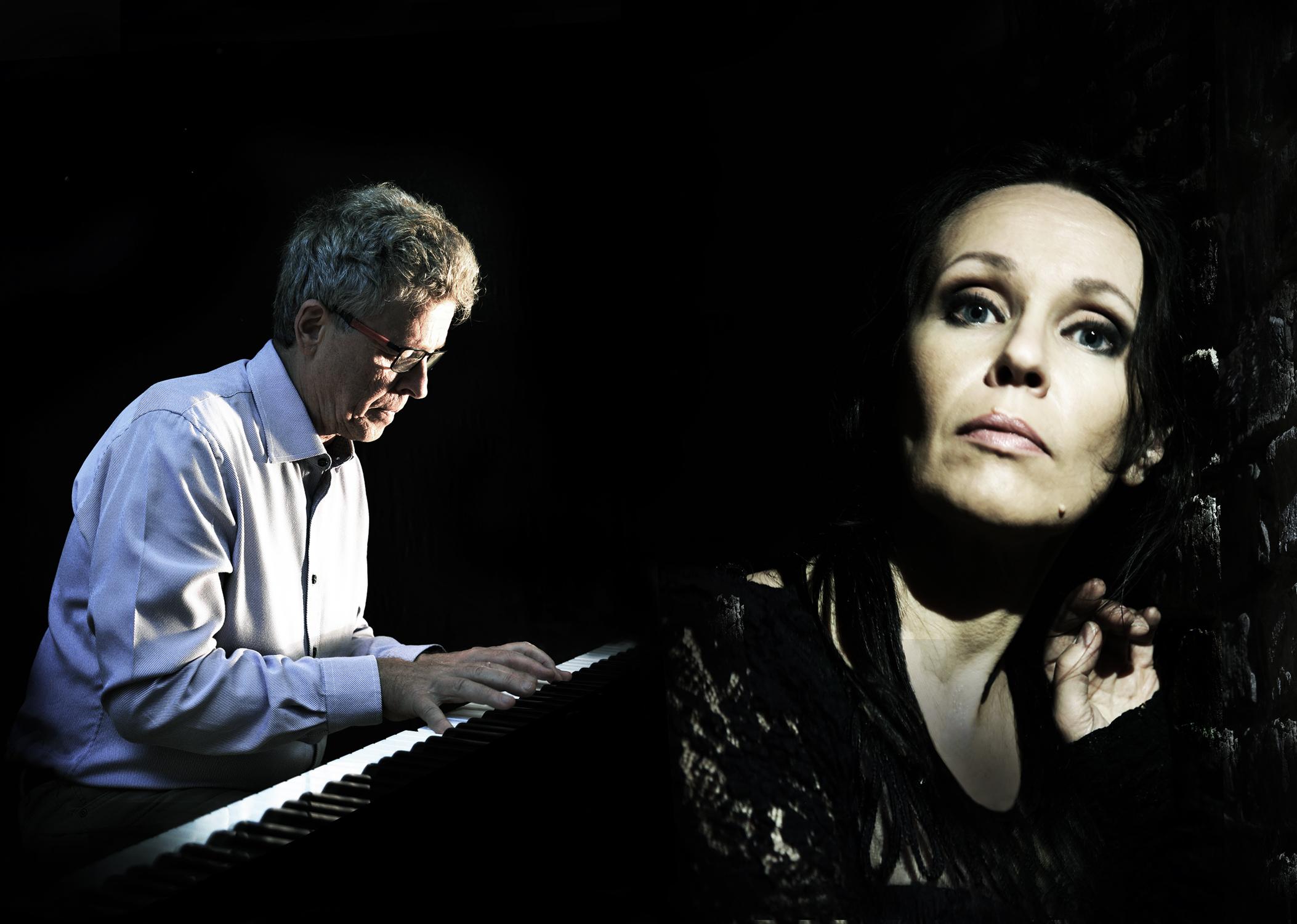 Pianisti-säveltäjä Esa Helasvuo ja laulaja Kursi Poutanen. Kuva: Antero Kahila / Keijo Sundvall