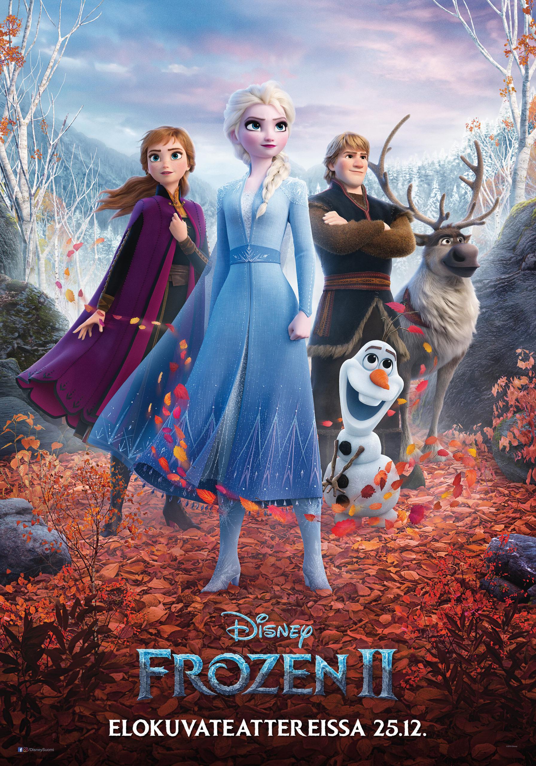 Frozen - huurteinen seikkailu -elokuvan ihastuttava ja odotettu jatko-osa Frozen 2 Kangasala-talon K-Kinossa joulukuussa 2019.