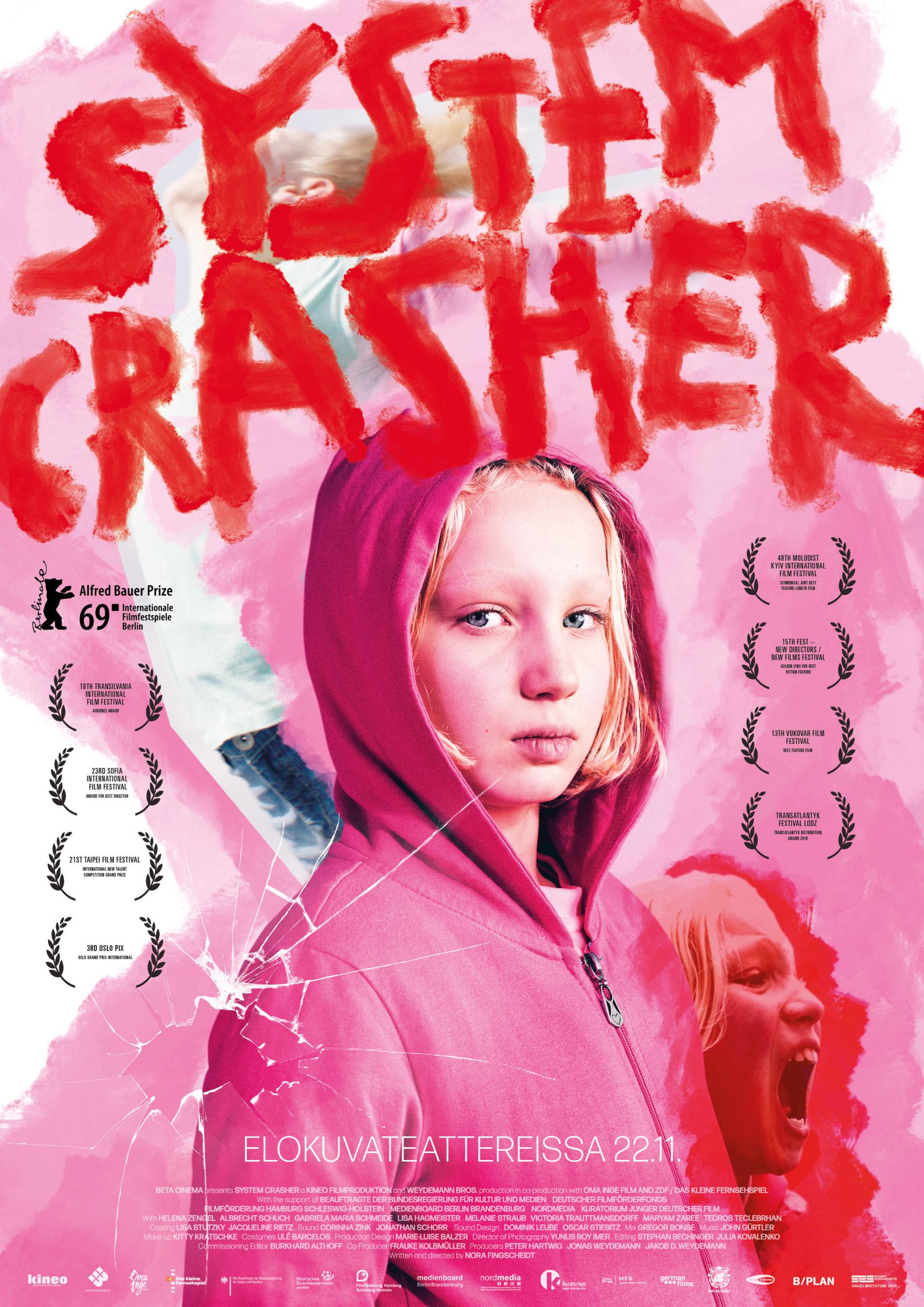 Koskettava System Crasher elokuva Kangasala-talon K-Kinossa joulukuussa 2019.