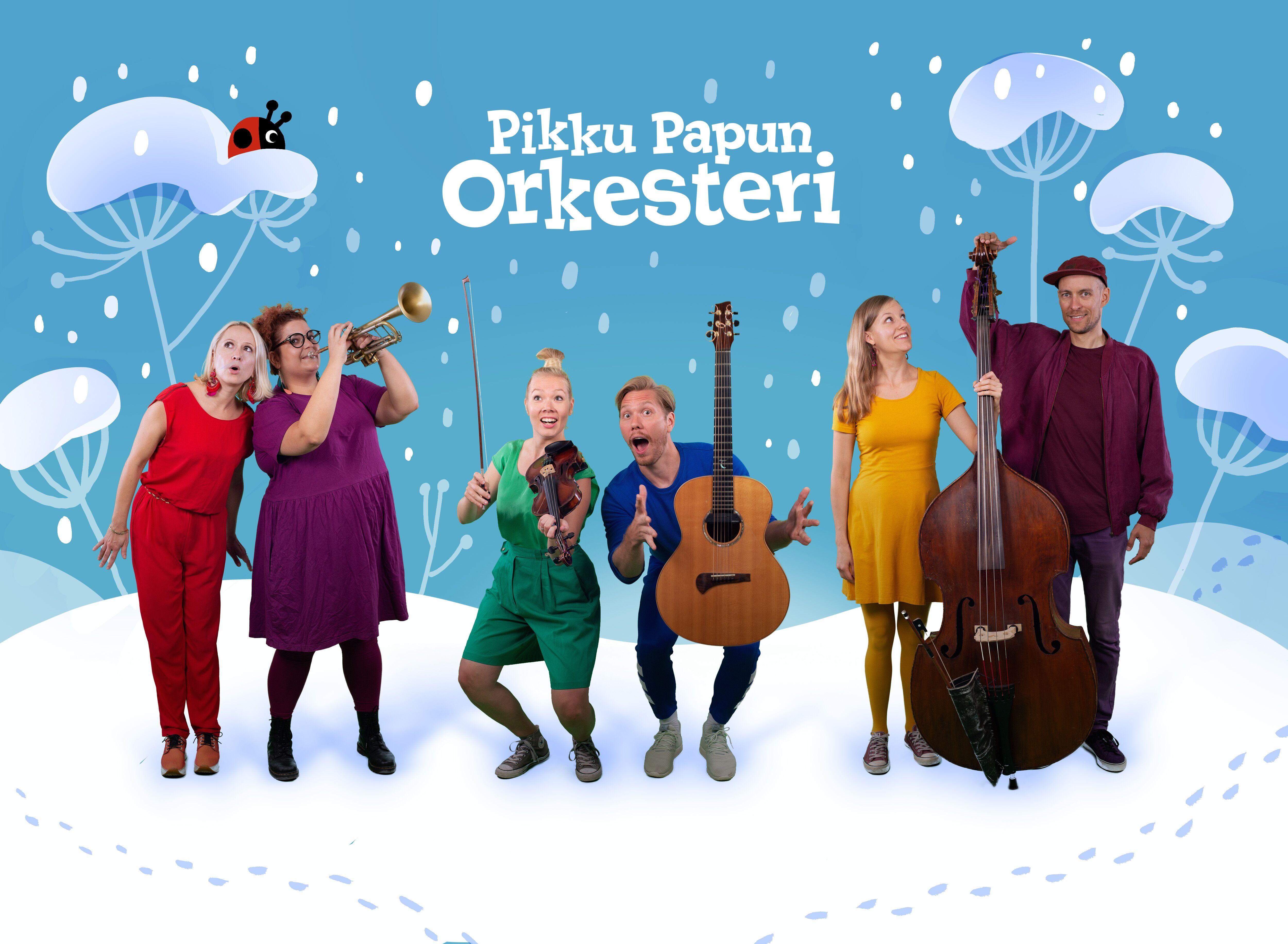Pikku Papun Orkesteri Kangasala-talossa helmikuussa 2020.