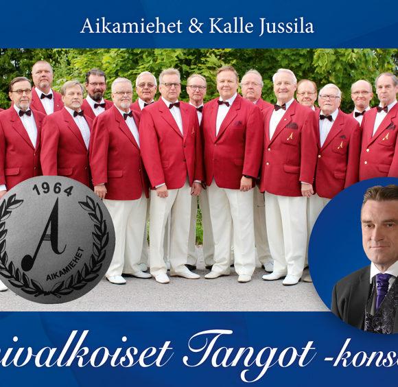 Suomen tunnetuin mieskuoro Aikamiehet saa keväällä 2020 Kangasala-talossa solistikseen koskettavan sinivalkoisten tangojen tulkitsijan Kalle Jussilan.