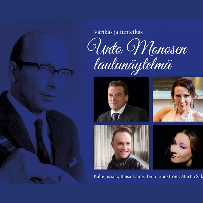Värikäs ja tunteikas musiikkinäytelmä Unto Monosen elämästä Kangasala-talossa maaliskuussa 2020.