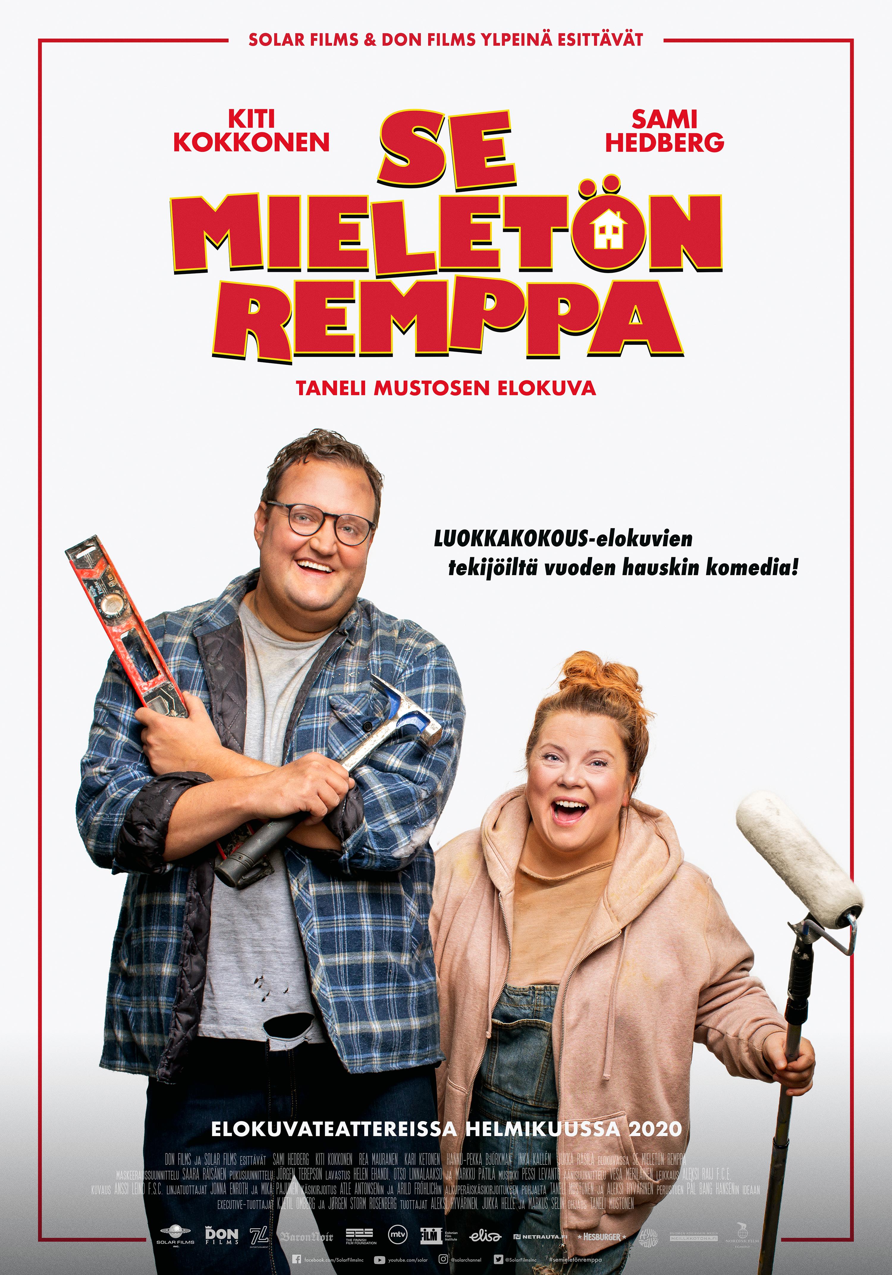 Sami Hedbergin ja Kiti Kokkosen tähdittämä hillitön Se mieletön remppa -komedia Kangasala-talon K-Kinossa helmikuussa 2020.