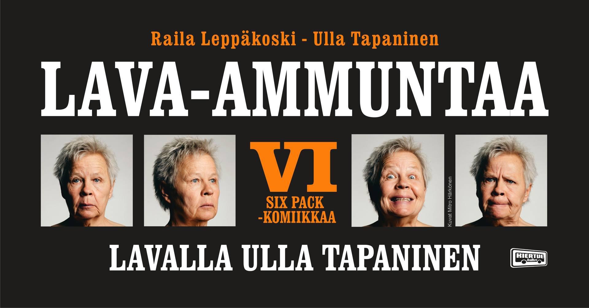 Ulla Tapanisen legendaarisen Lava-ammuntaa -sarjan kuudes osa Kangasala-talossa helmikuussa 2020.
