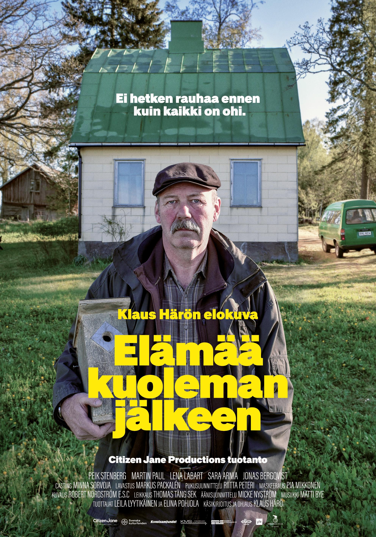 Klaus Härön elokuva Elämää kuoleman jälkeen Kangasala-talon K-Kinossa maaliskuussa 2020.