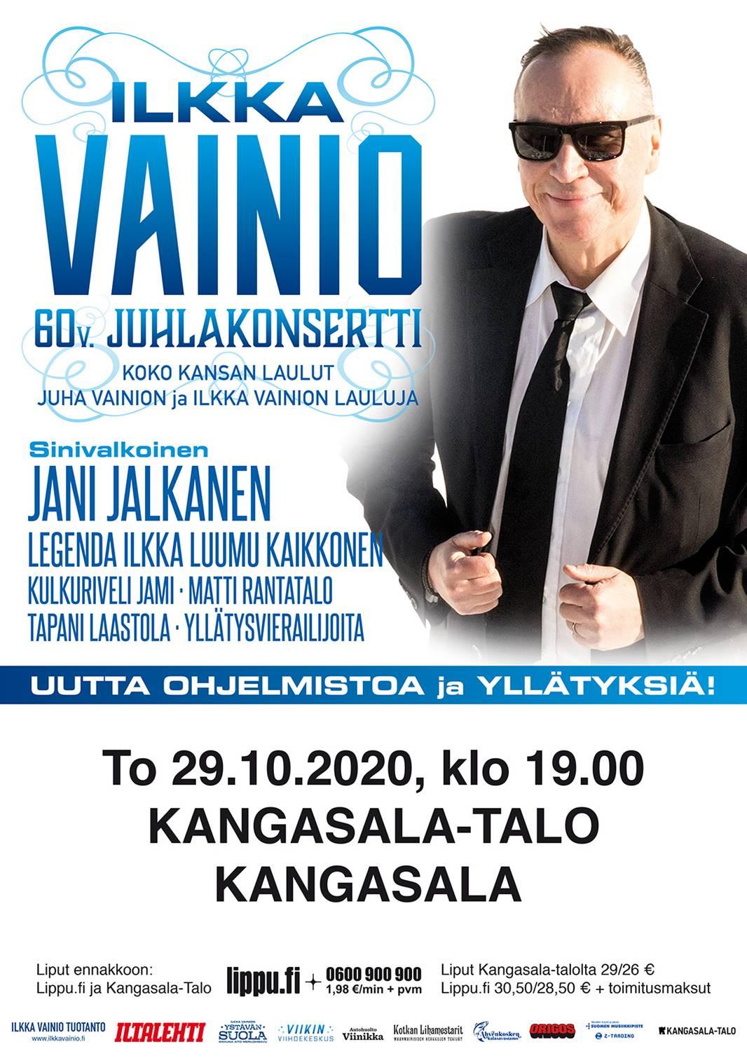 Ilkka Vainio 60v. Juhlakonsertti lokakuussa 2020 Kangasala-talossa.