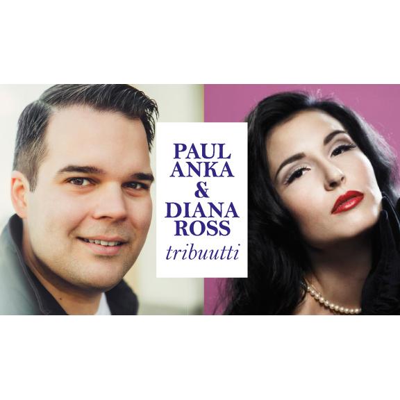 Maria Lund ja Mikael Konttinen tähdittävät Paul Anka & Diana Ross -tribuuttia Kangasala-talossa 30.8.2020.