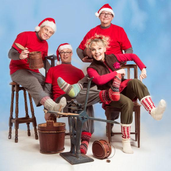 Satu Sopasen ja Tuttiorkesterin musiikilliset tarinat ja leikit virittävät koko perheen joulumielelle Kangasala-talossa 12.12.2020.