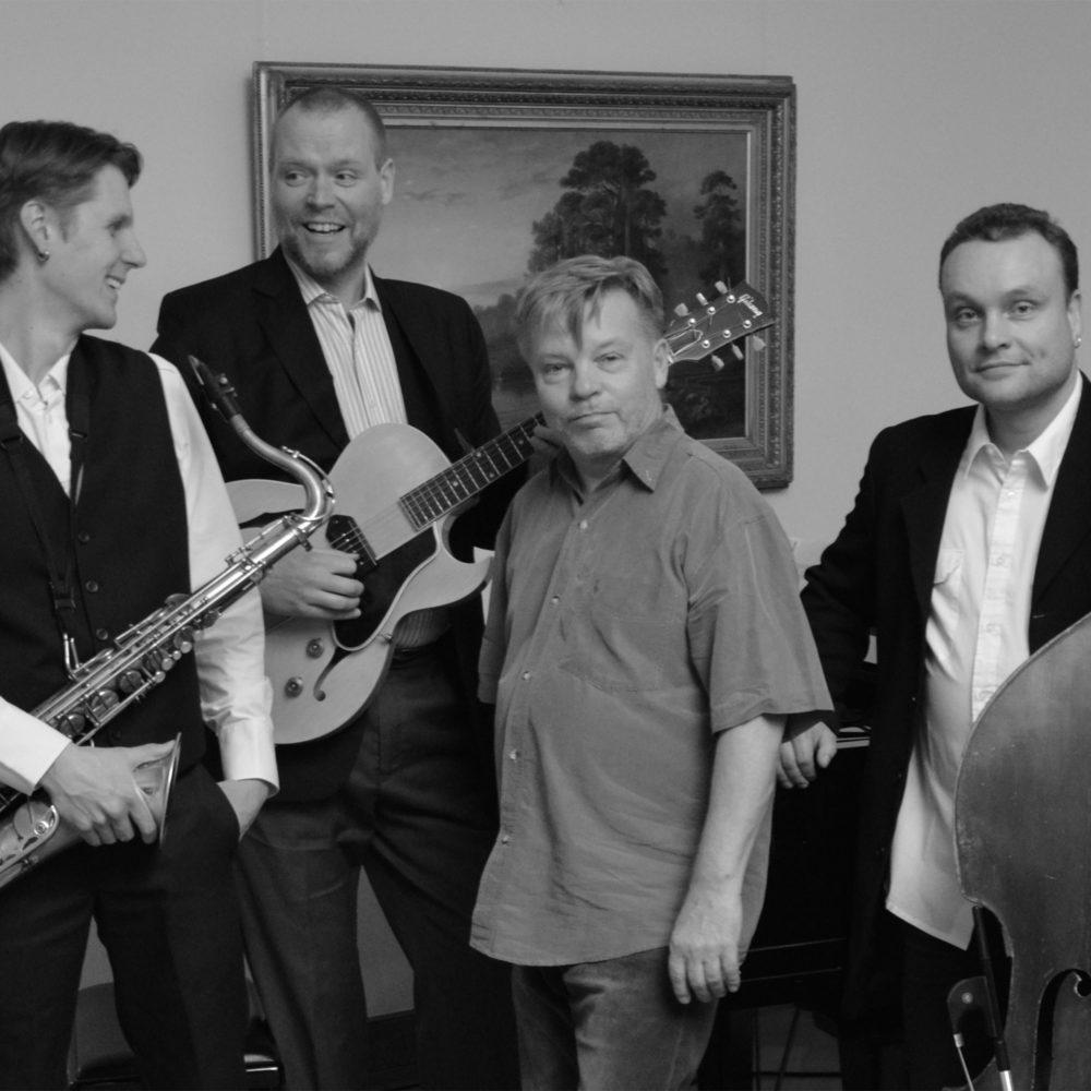 Kokeneista muusikoista koostuva Jazzmuseo -yhtye konsertoi Kangasala-talossa lokakuussa 2020.