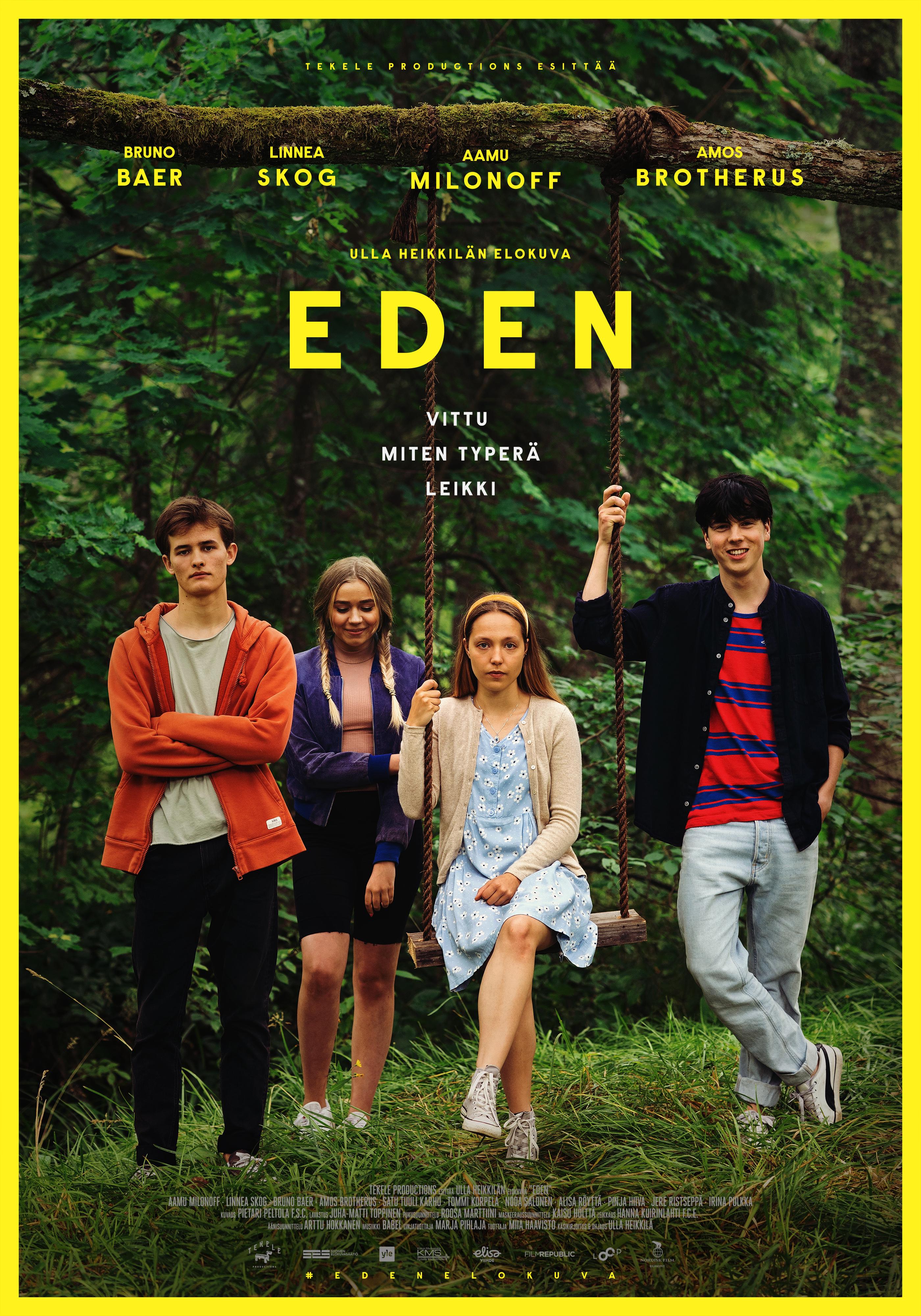 Aikuistumisesta, vapaudesta ja suurista tunteista kertova elokuva Eden Kangasala-talon K-Kinossa elokuussa 2020.