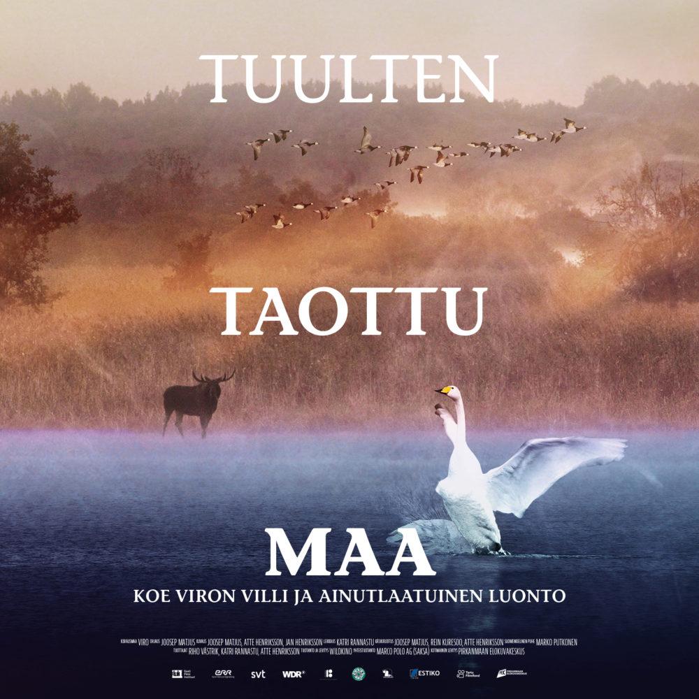 Viron villiä ja ainutlaatuista luontoa kuvaava elokuva Tuulten taottu maa Kangasala-talon K-Kinossa elokuussa 2020.