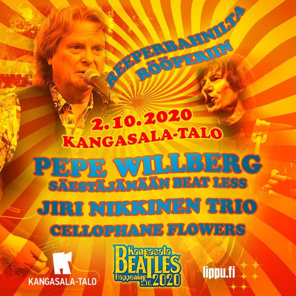 Kangasala Beatles Happening: Reeperbanhnilta Rööperiin -konsertti Kangasala-talossa 2.10.2020.