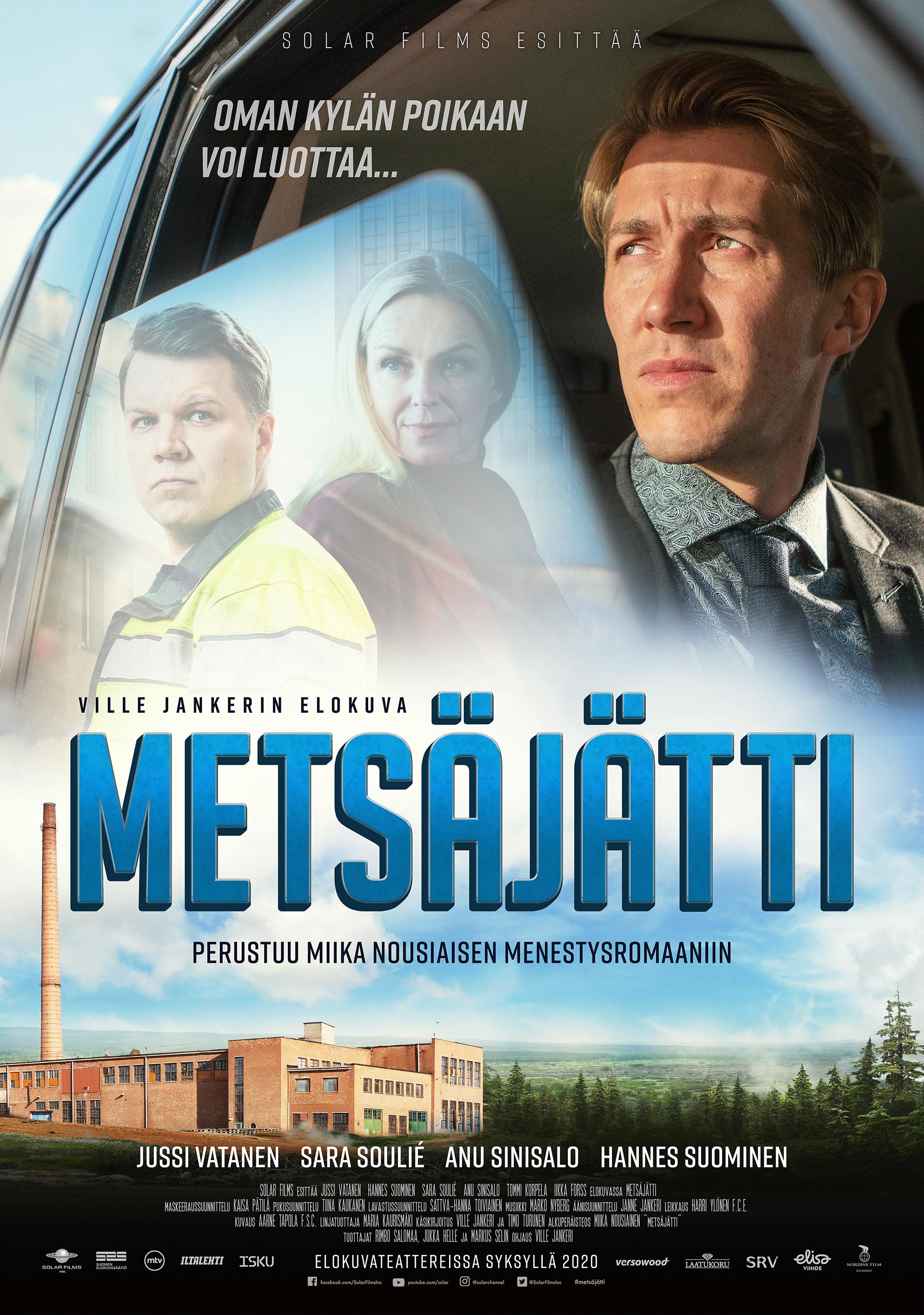 Miika Nousiaisen kirjaan perustuva draamakomedia Metsäjätti Kangasala-talon K-Kinossa syyskuussa 2020.