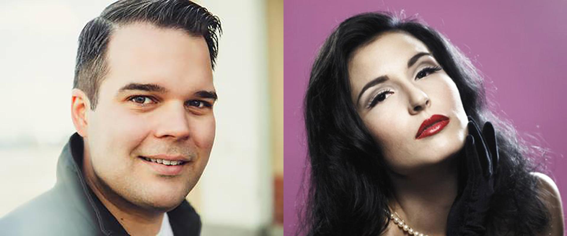 Maria Lund ja Mikael Konttinen tarjoilevat Paul Ankan ja Diana Rossin musiikkia tribuuttikonsertissa Kangasala-talossa.