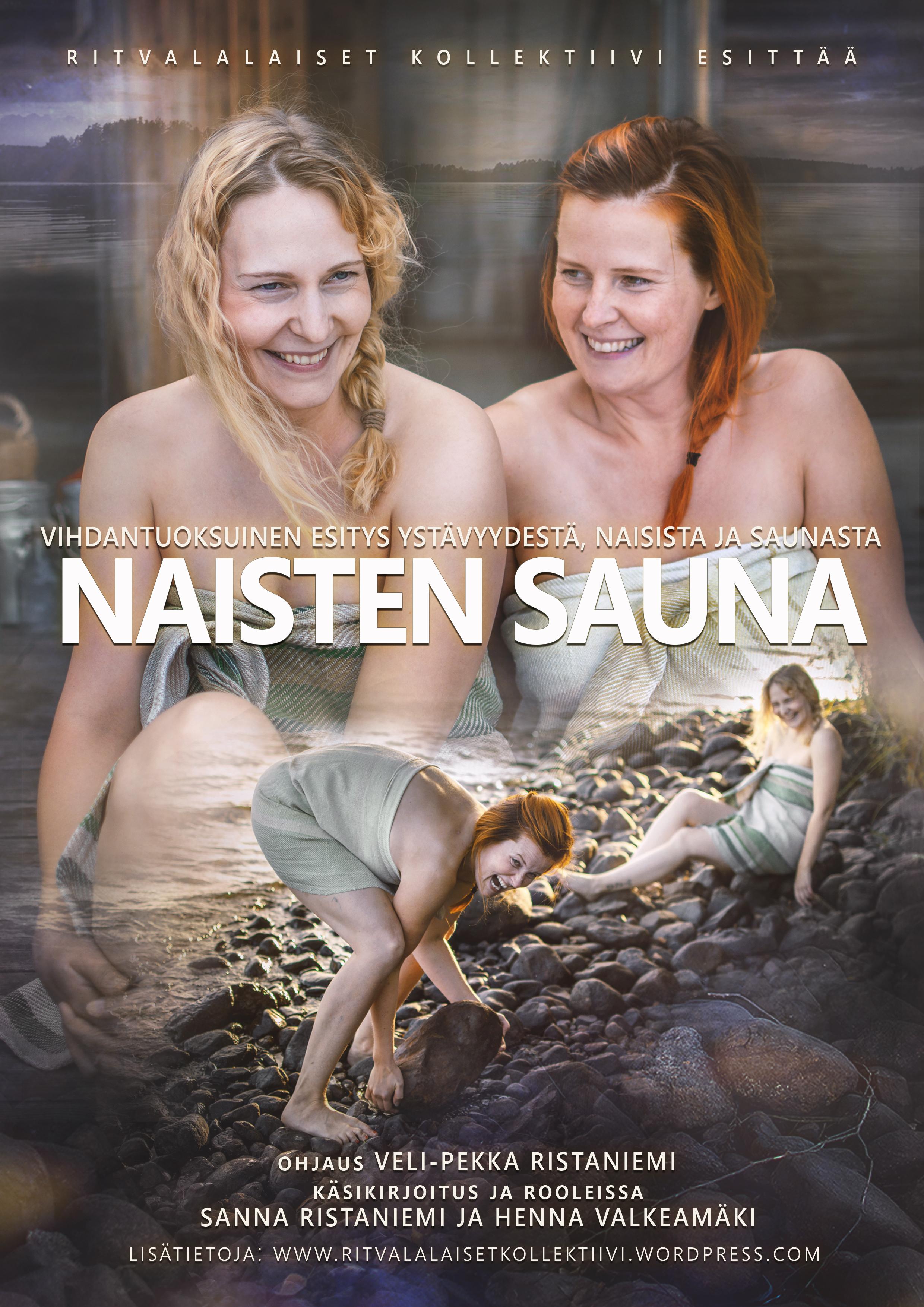 Valkeakoskelaisen ammattiteatteriryhmä Ritvalalaiset Kollektiivin esitys Naisten sauna Kangasala-talossa 15.10.2020.