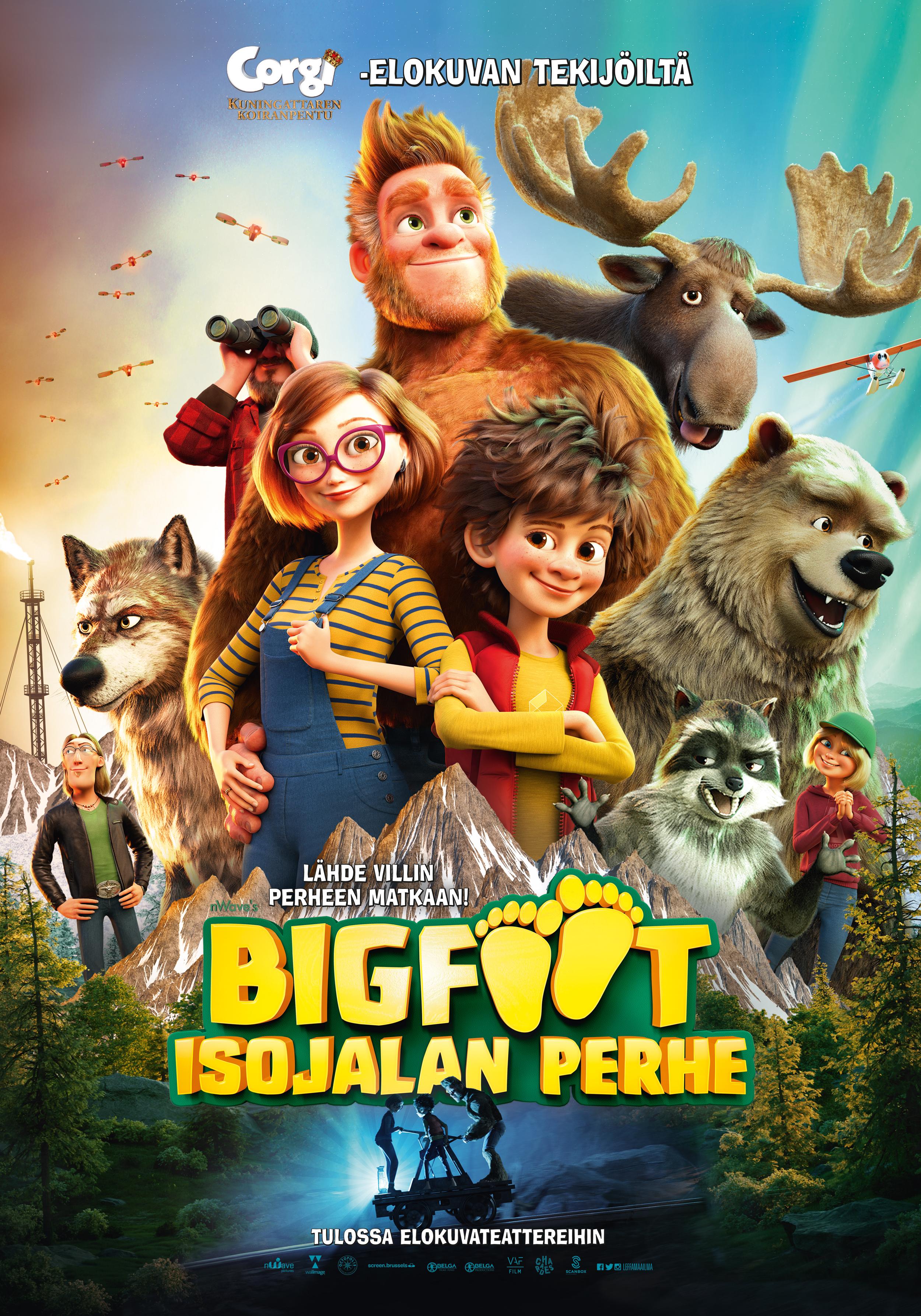 Koko perheen animaatio Bigfoot - Isojalan perhe Kangasala-talon K-Kinossa loka-marraskuussa 2020.