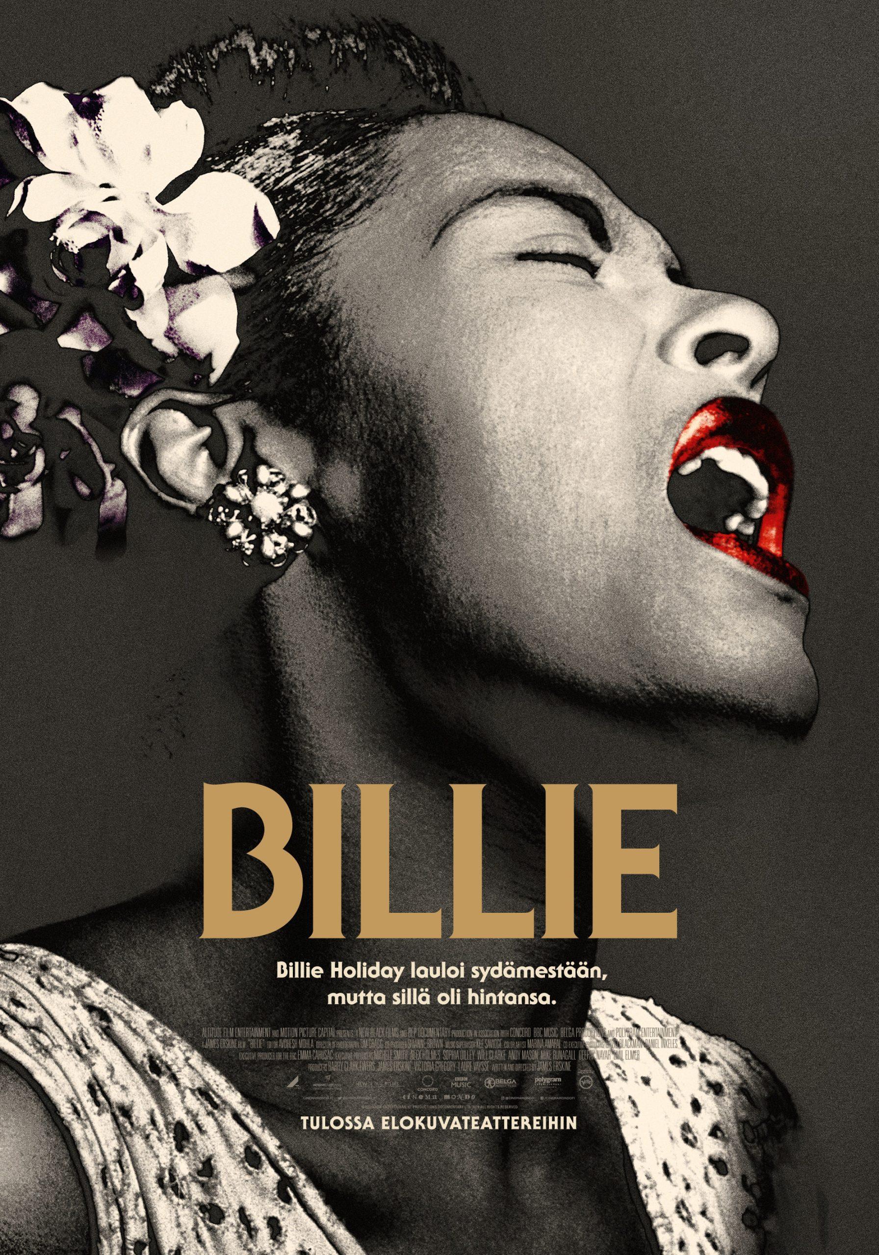 Laulajalegenda Billie Holidaysta kertova Billie Kangasala-talon K-Kinossa marraskuussa 2020.