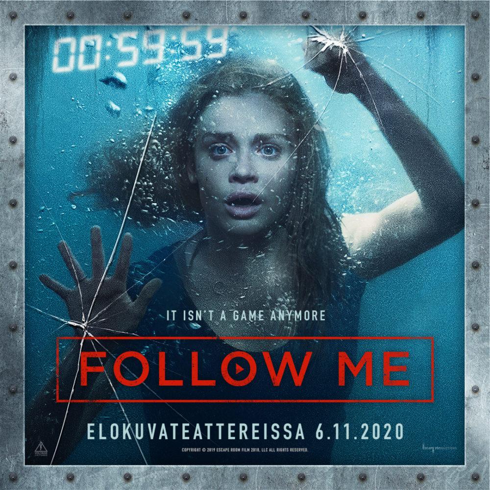 Hyytävä kauhuelokuva Follow Me Kangasala-talon K-Kinossa marraskuussa 2020.