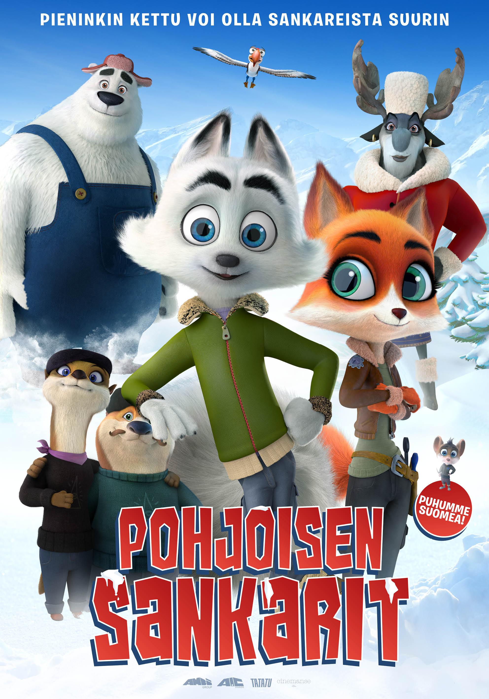 Animaatioelokuva Pohjoisen sankarit Kangasala-talon K-Kinossa marraskuussa 2020.
