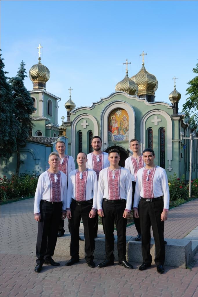 Ukrainalainen Kirkkolauluyhtye Kaanon esittää Pääsiäisen ajan lauluja Kangasala-talossa 13.3.2021.