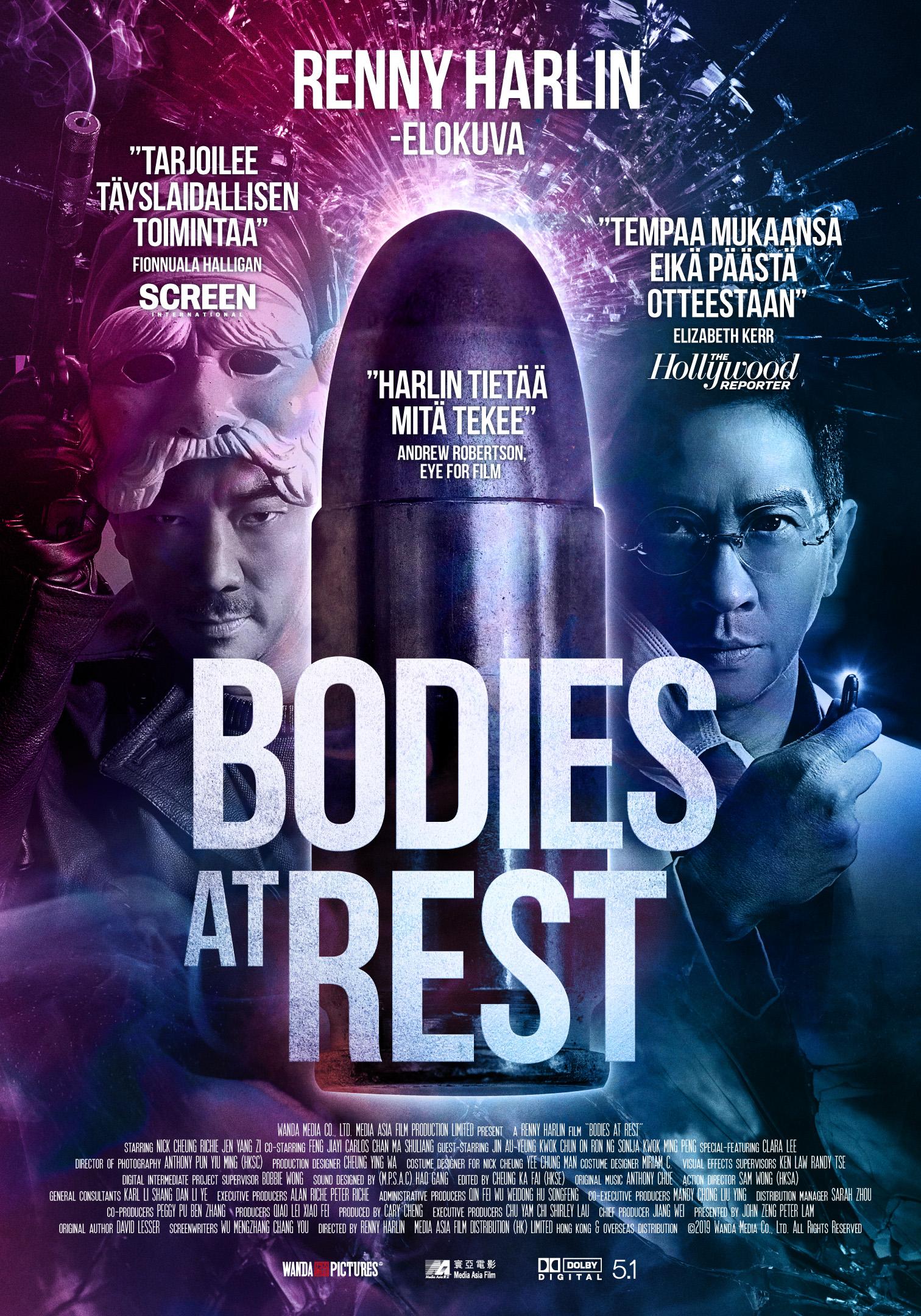 Renny Harlinin intensiivinen ja vauhdikas toimintatrilleri Bodies at Rest Kangasala-talon K-Kinossa joulukuussa 2020.