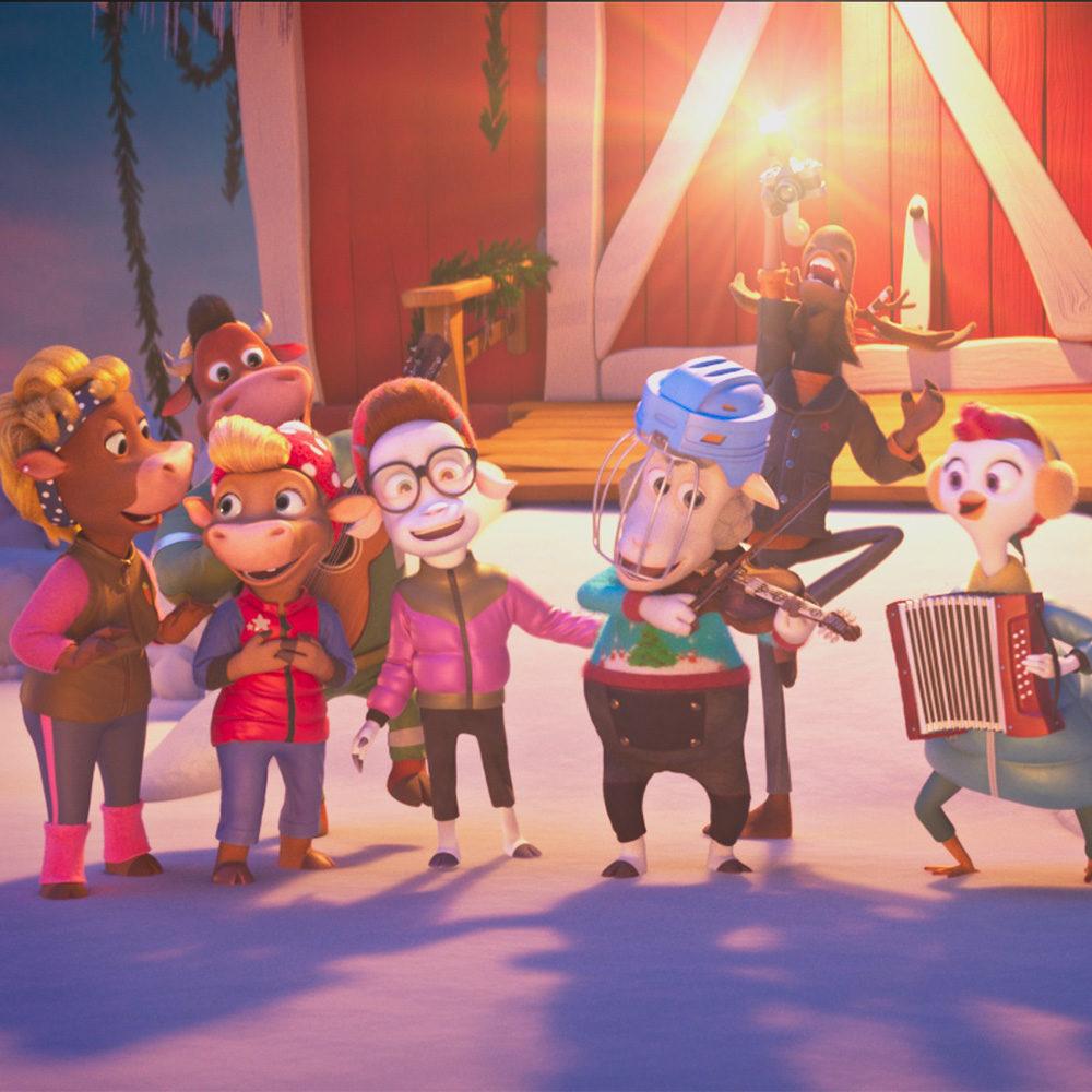 Koko perheen animaatio Karjamäen joulu Kangasala-talon K-Kinossa joulukuussa 2020.