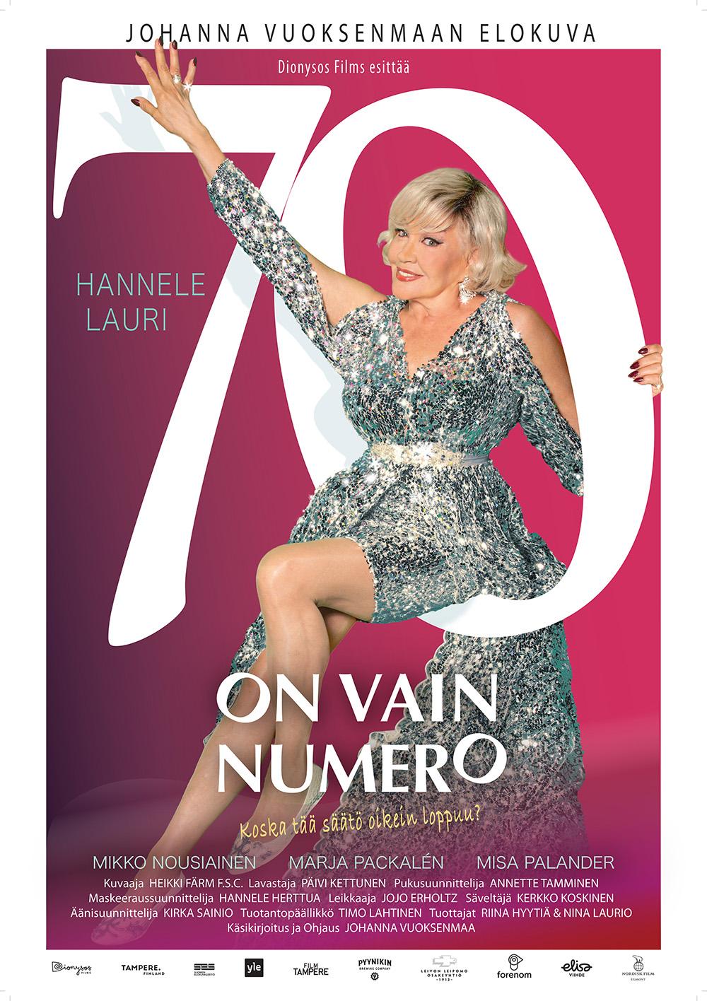 Hannele Laurin tähdittämä elokuva 70 on vain numero Kangasala-talon K-Kinossa syksyllä 2021.