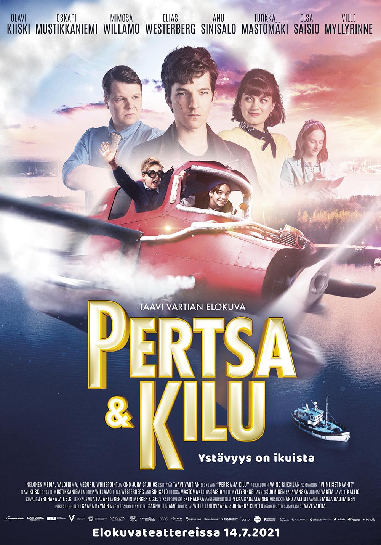 Kirjailija Väinö Riikkilän luomat hahmot Pertsa ja Kilu seikkailevat täysverisessä ja ajattomassa seikkailuelokuvassa Kangasala-talon K-Kinossa elokuussa 2021.