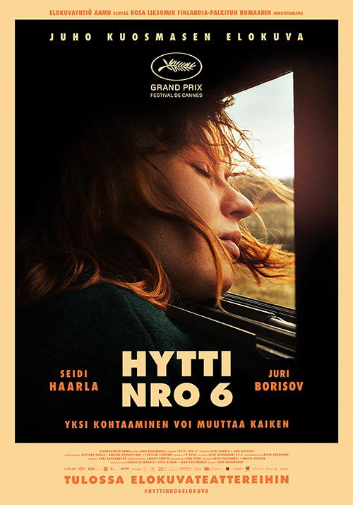 Rosa Liksomin Finlandia-palkitun romaanin innoittama lämmin ja vilpitön road movie Hytti nro 6 Kangasala-talon K-Kinossa syksyllä 2021.